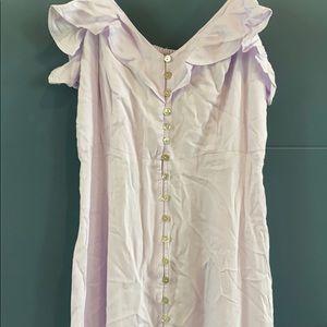Lavender button down maxi dress